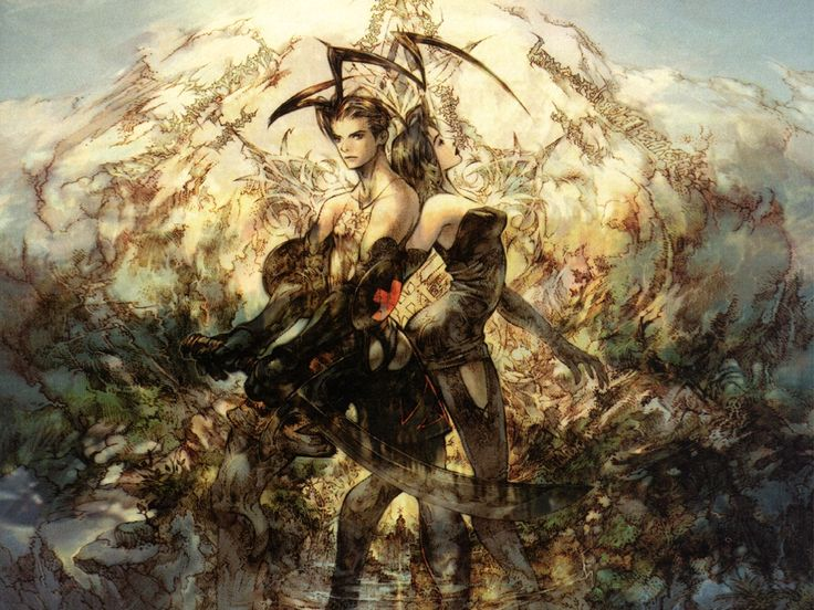 Vagrant Story! One of my favorite games (seriously, it's near perfection) and the artwork is a major inspiration. See also, Final Fantasy Tactics.