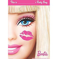 A379379 - Barbie Loot Bags Loot Bags Barbie (16cm x 24cm) Plastic - Pack of 8 Please note: approx. 14 day delivery time.