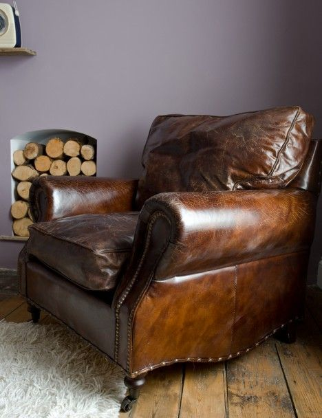 Vintage Leather Armchair, I would love one of these!