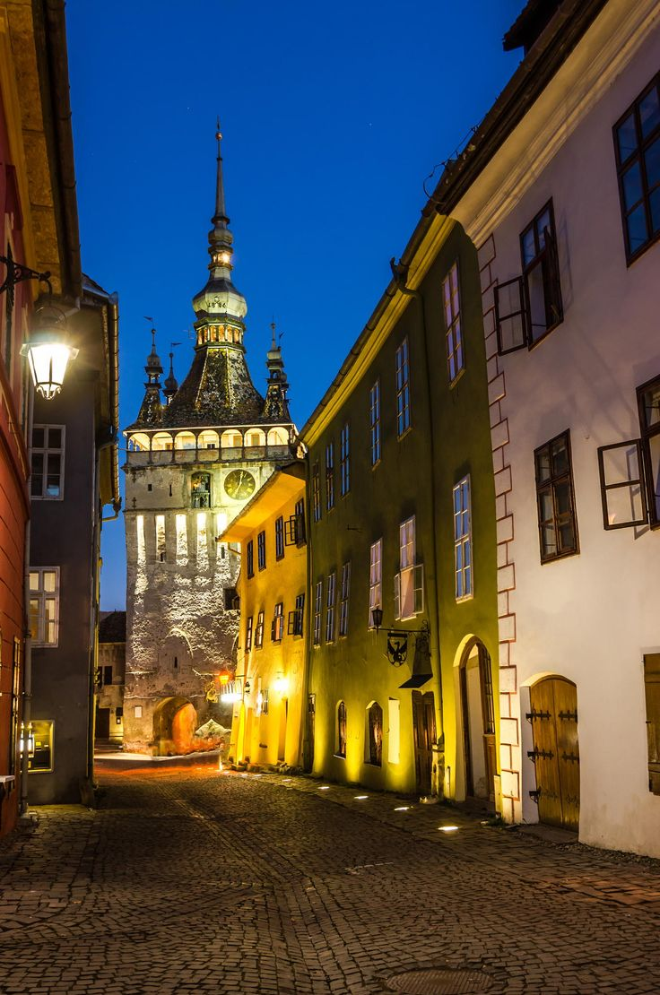 Clock Tower, Sighisoara.One of the most well preserved inhabited citadel in Europe,with an authentic medieval architecture.In Eastern Europe,is one of the few fortified towns which are still inhabited