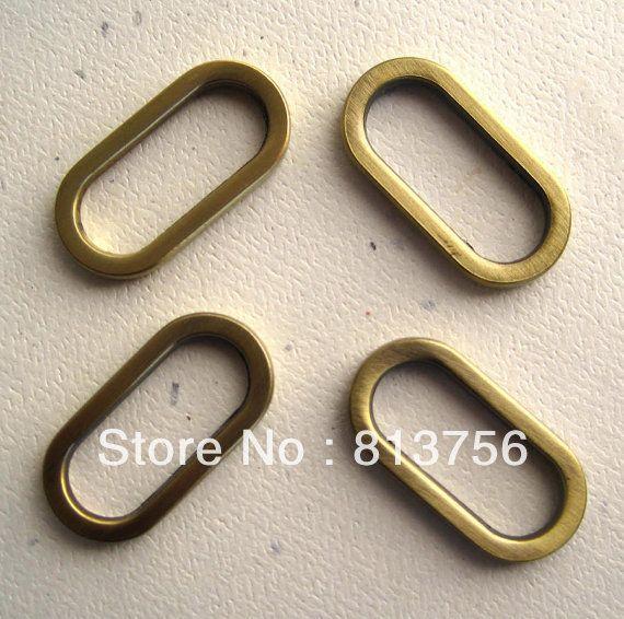 Овальные Кольца в Старину Латунь 1 Дюймов Набор из 100