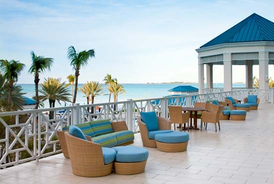 Telegraph Bar Patio at Sheraton Nassau Beach Resort & Casinos, Cable Beach, Nassau, Bahamas.