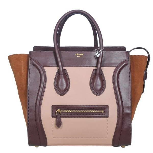 celine bags - Celine Blush Luggage Boston Tricolor Apricot Brown Tan Smooth ...