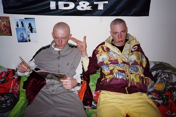 """The shaved heads of Gabber men were likely used as statements related to the """"hardcore"""" ideas of the subculture."""