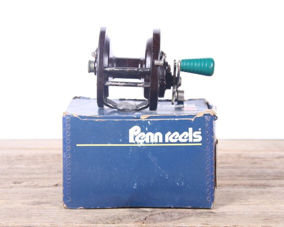 This is a vintage 112HL / No. 85 Penn Reel. The bakelite reel is in working order and and comes with its original box. It will be great used or displayed. Contact us with any questions!  Condition: The reel is solid, but it does shows some wear.  Like this item? Add it to your favorites so you dont lose it! _____________________________________________________________________________________  - Contact us for an international shipping quote! - All items in my shop are vintage or repurposed…