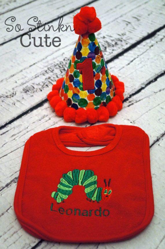 The Very Hungry Caterpillar Birthday Baby Boy by SoStinknCute, $35.00