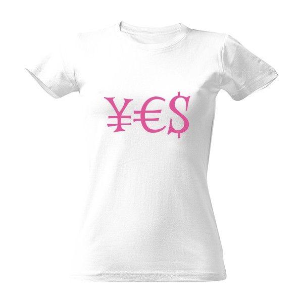 Tričko s potiskem yes