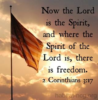 Where the Spirit of the Lord is, there is freedom!
