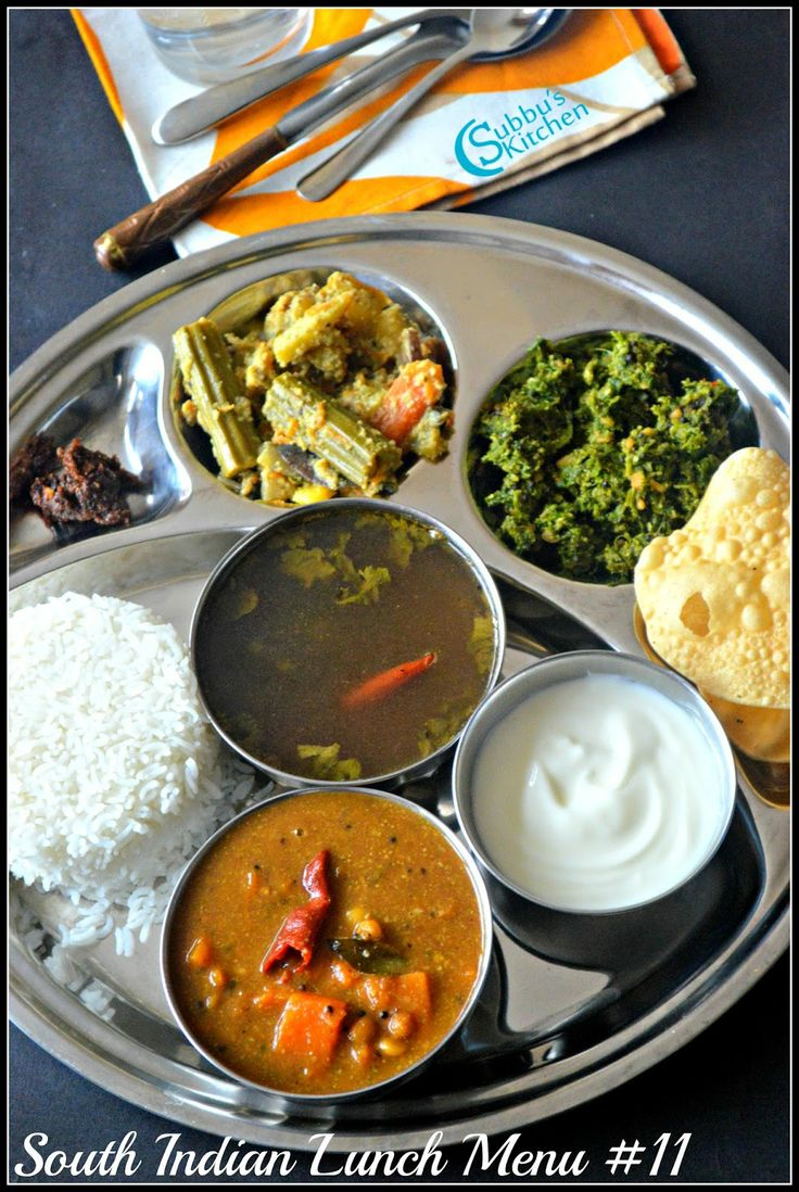 South Indian Lunch Menu 11 - Parangikai Puli Kuzhambu, Aviyal, Keerai Thuvaran and Kottu Rasam | Subbus Kitchen