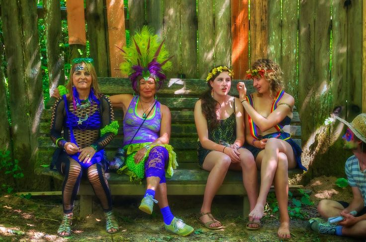 Faeries resting at the Oregon Country Fair