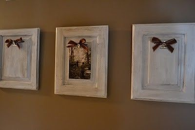 recycled cabinet doors | Recycle Old Cabinet Doors into frames by cecelia