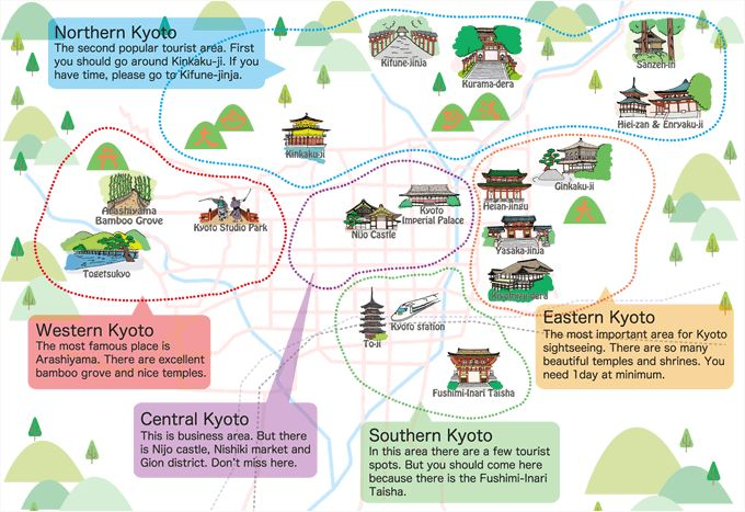 Tourist sites in Kyoto rankings with lots of pictures based on reviews. The introduction of local specialty gourmet locations and must-see festivals as well.
