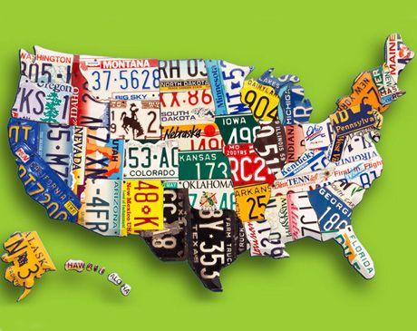 Best Old License Plates Images On Pinterest License Plate - Us liscense plate map