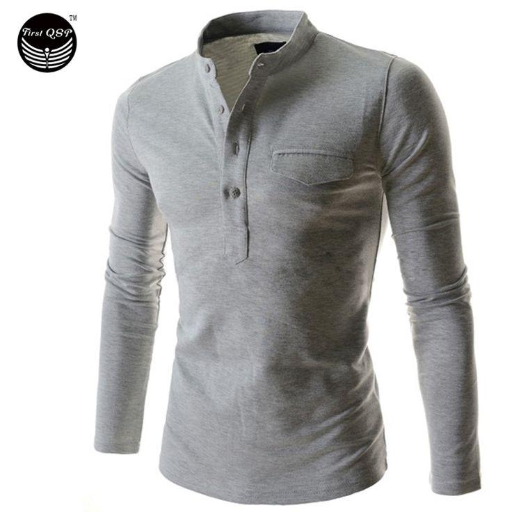 Mens Polo Shirt Brands 2017 Male Long Sleeve Fashion Casual Slim Vertical Collar Cardigan Polos Men  Jerseys   Q
