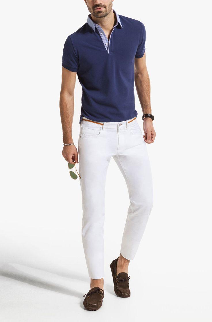 PLAIN SHORT SLEEVED POLO SHIRT WITH SHIRT COLLAR - View all - Polos & T-shirts - MEN - United Kingdom