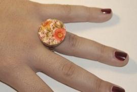 anillos con corcho y tela