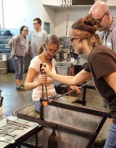 glassblowing corning glass museum