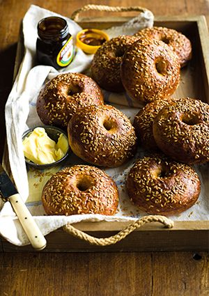 Marmite bagels - This recipe for Marmite bagels combines two of our favourite breakfast items in one great bake. Smother them in butter or more Marmite, if you can handle it.