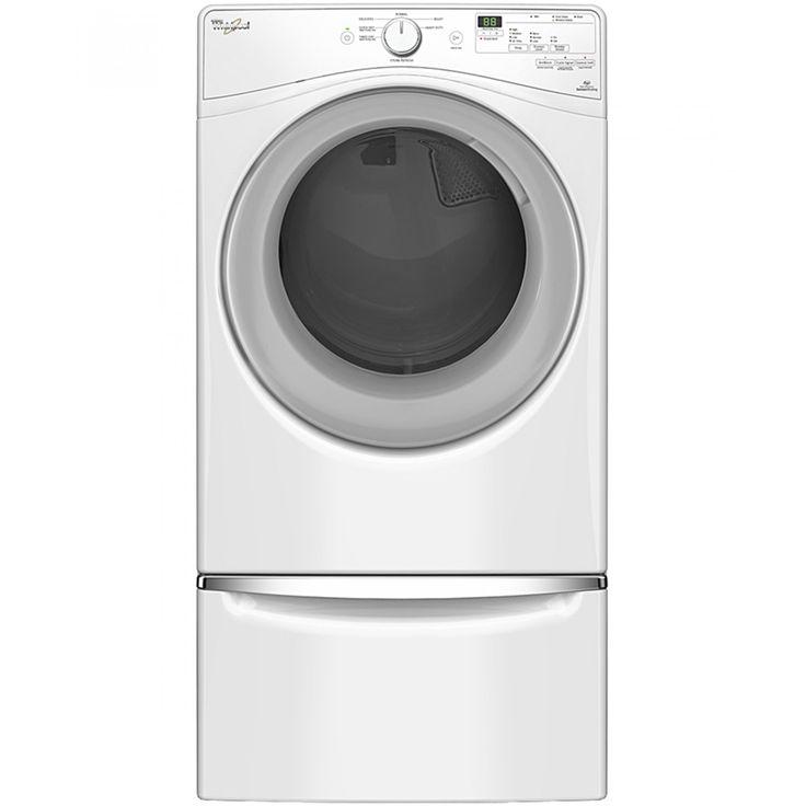 Secadora Whirlpool 17 Kg de carga frontal en color blanco; Programación anti errores con sonido<br>Bloqueo de controles<br>Protector contra arrugas Wrinkle Shield con vapor<br> Canasta de Acero Porcelanizado<br>3 niveles de secado<br>4 Temperaturas<br>Pan