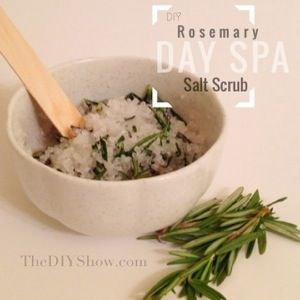 DIY Rosemary Salt Scrub | Christmas DIY and Crafts | Pinterest