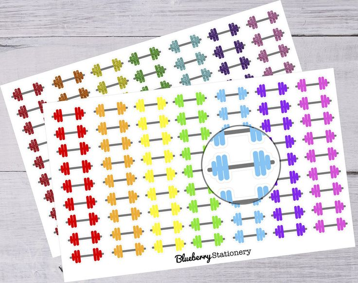 Weight Stickers Planner. Fitness. Sport. Gym. Cute. Kikki K, Erin Condren, Filofax or any Planner or Project life de la boutique BlueberryStationery sur Etsy