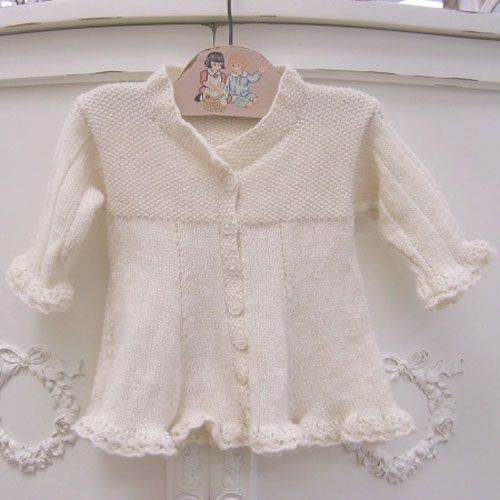 Organic Hand Knit Frill Dress from PoshTots