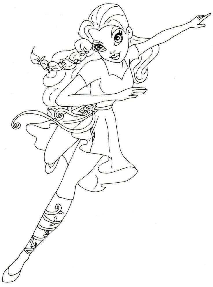 free printable super hero high coloring page for poison