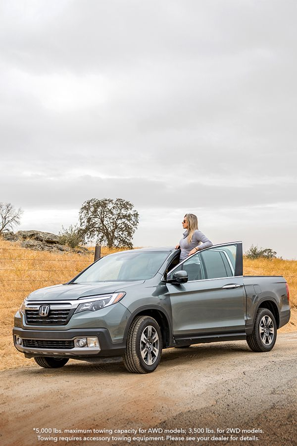 Drive With Confidence In The Honda Ridgeline With An Available 5 000 Lb Towing Capacity With Seating For Up To 5 People Tak Honda Truck Honda Honda Ridgeline