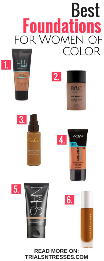 Best Foundations For Women Of Color - Trials N Tresses