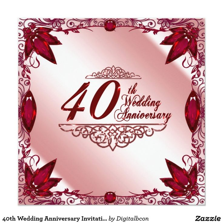 36 best 40th Wedding Anniversaries images on Pinterest | 40th ...