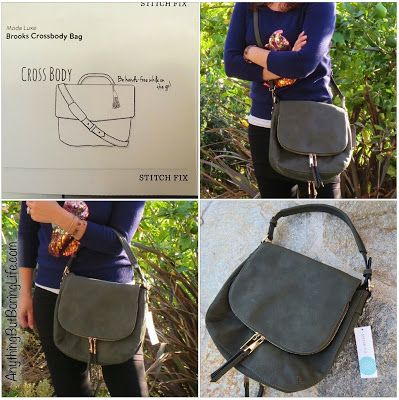 #StitchFix Accessory : Moda Luxe Brooks Crossbody Bag | November Fix # 10 | Lifestyle Blog: AnythingButBoringLife.com