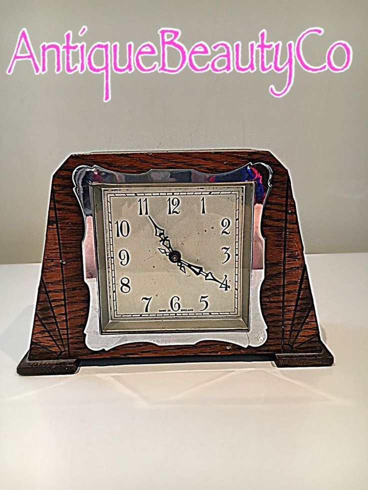 Vintage Smiths Enfield Art Deco Small Mantel Clock 1930s #Smiths
