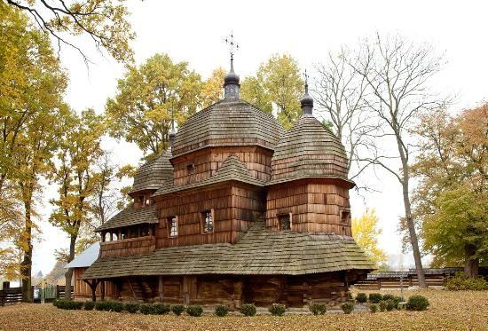 Wooden Greek Catholic Church in Chotyniec, Podkarpackie Province, Poland
