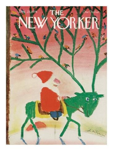 Andre Francois, Cover for The New Yorker Magazine December 25, 1978