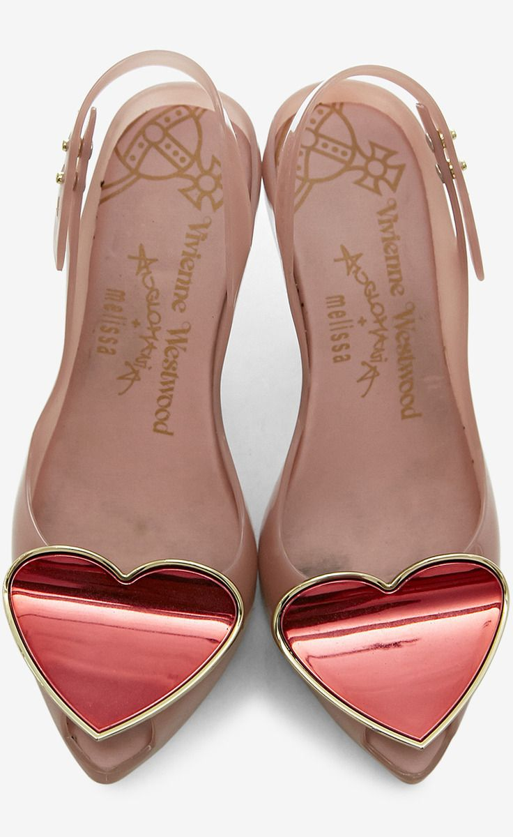 Red And Gold Hearts Slingback Heel.