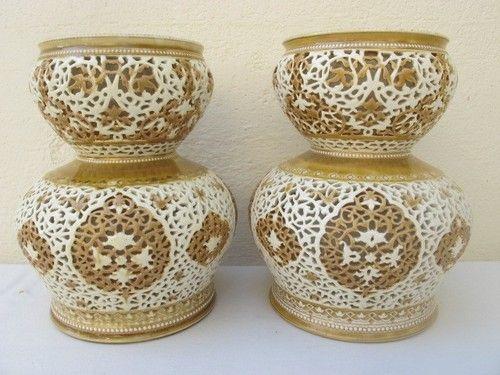 zsolnay vasen paar islamic dekor 1890-1899 1400€ tel 006604949500