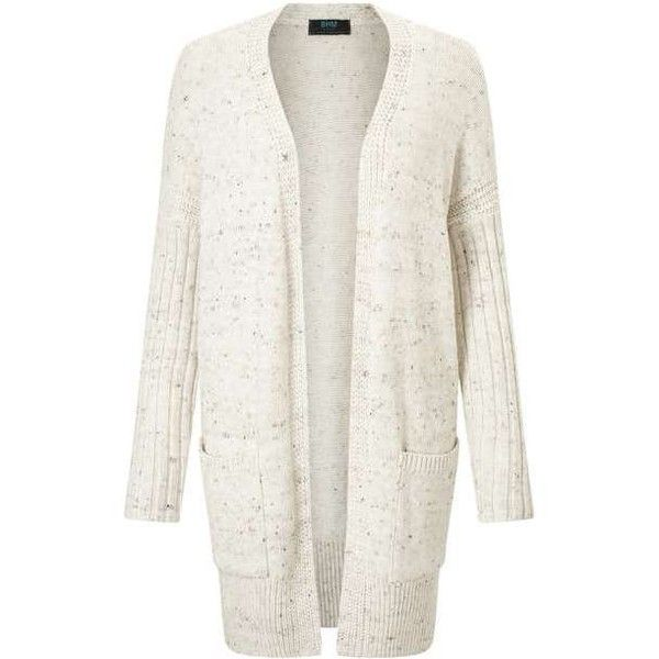 PETITE Neppy Cardigan ($35) ❤ liked on Polyvore featuring tops, cardigans, white top, miss selfridge tops, petite white tops, white cardigan and miss selfridge