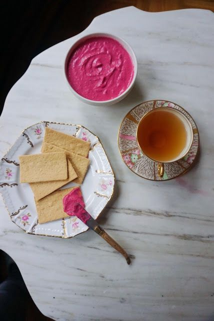 Tea Happiness: Recipe: Lapsang Souchong Beet Hummus