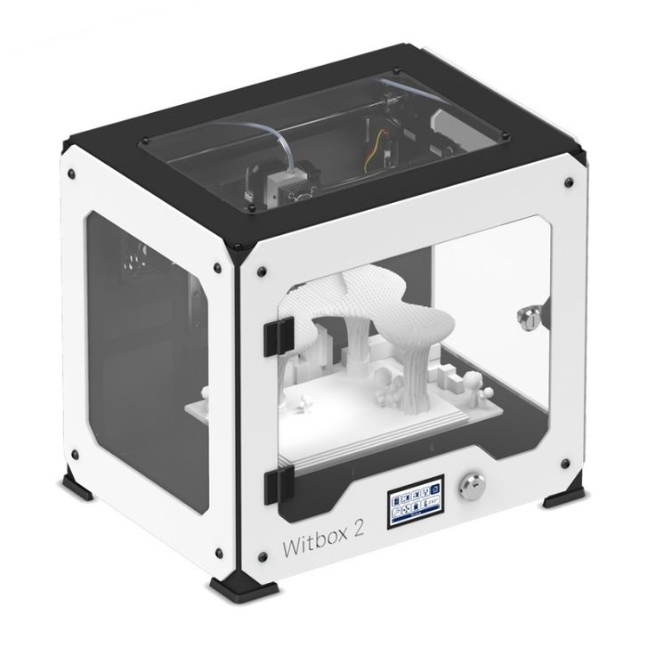 BQ Witbox 2 3D Printer We are evolving 3D printing. Witbox was our first 3D printer. It was ranked in the top five best printers in the world and reached more than 50 countries in just under a year. B