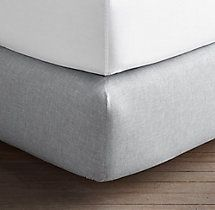 Heathered Cotton-Cashmere Box-Spring Cover