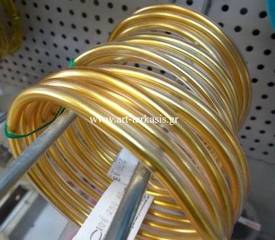 ΣΥΡΜΑ ΑΛΟΥΜΙΝΙΟY ΜΕ ΕΠΙΚΑΛΥΨΗ 0,5mm Gold