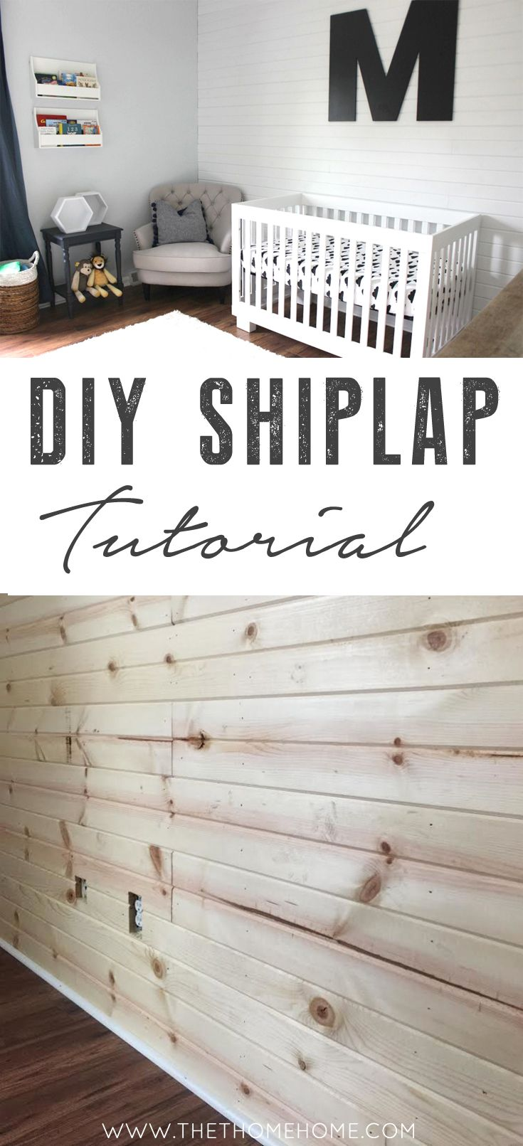 The Easiest Diy Shiplap Tutorial Plank Wall Painted With