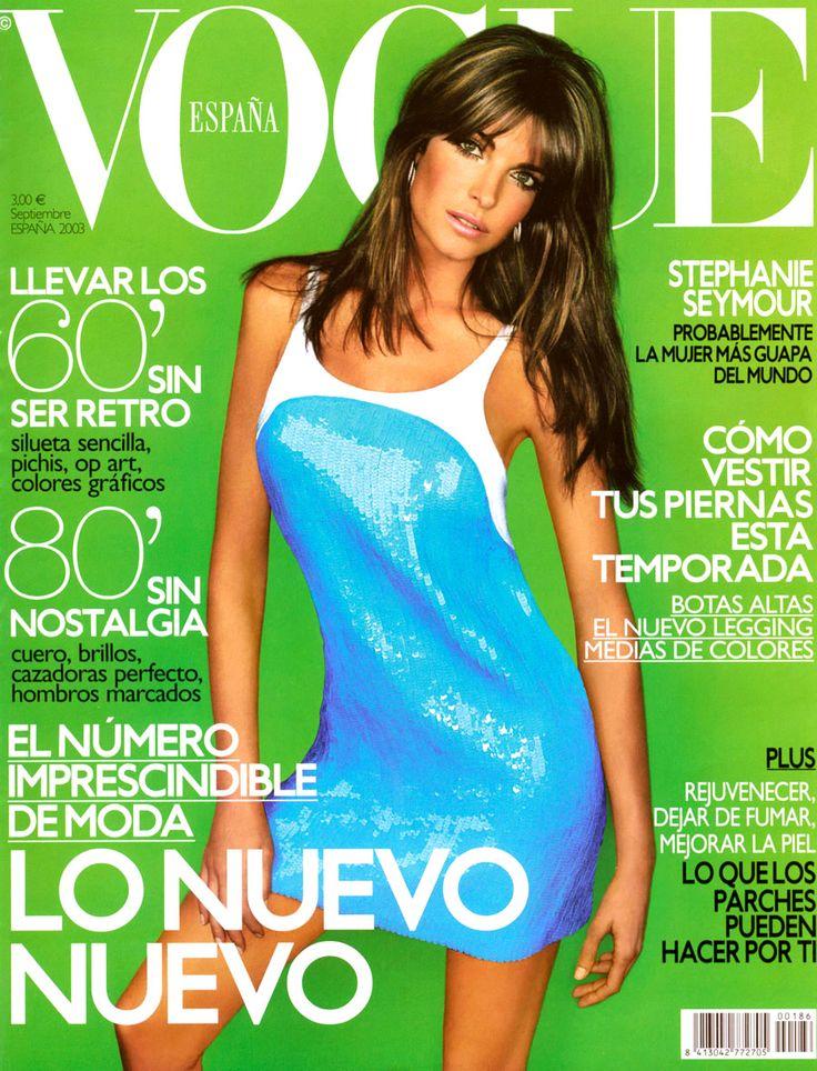 MODEL- STEPHANIE SEYMOUR .VOGUE SPAIN SEPTEMBER, 2003 COVER