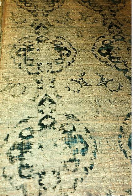 Panel Date: 15th century Culture: Italian Medium: silk Dimensions: 60 1/2 x 25 5/8 in (153.5 x 65 cm ) Classification: Textiles-Velvets