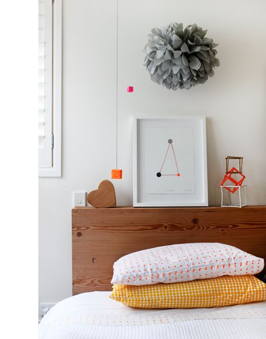 And I guess that's also a yes to being able to hang pompoms as decor... Source: http://thedesignfiles.net/2011/03/sydney-home-rachel-castle-and-family/