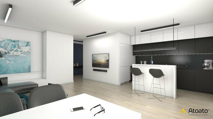 #atoato.pl #interior #design #modern #style #kitchen #dinnigroom #wood #colors #projektywnętrz #pasja #wnętrza #kuchnia #biel #drewno #błękit