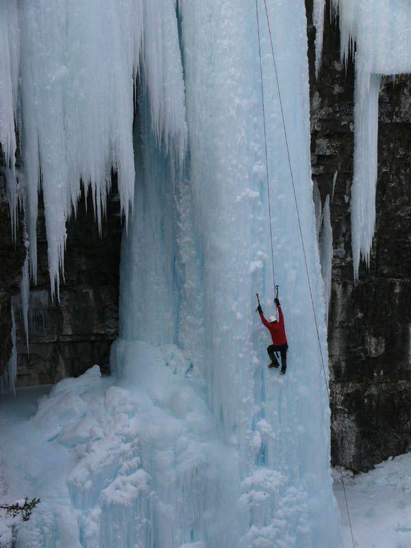 ice climbing in Banff Alberta