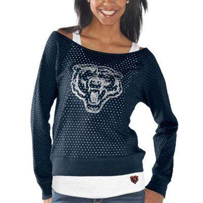 Touch by Alyssa Milano Chicago Bears Ladies Holy Sweatshirt & Tank Set - Navy Blue