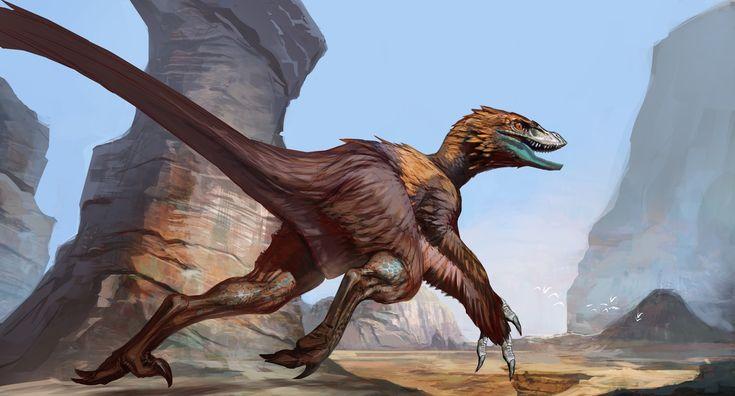 Deinonychus, Carlo Arellano on ArtStation at https://www.artstation.com/artwork/GyA1W
