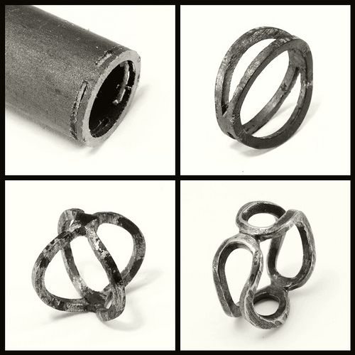 Double Bent Band - iron   da Blind Spot Jewellery